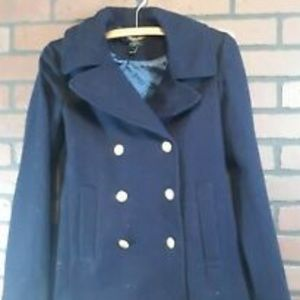 J Crew Womens Navy Gold Button Jacket 0